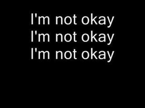 I'm Not Okay  My Chemical Romance (lyrics)