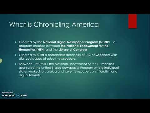 Chronicling America Intro