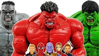 Romeo & Thanos vs Avengers Battle! Go~! Hulk, Spider-man, Thor, Iron Man, Captain America