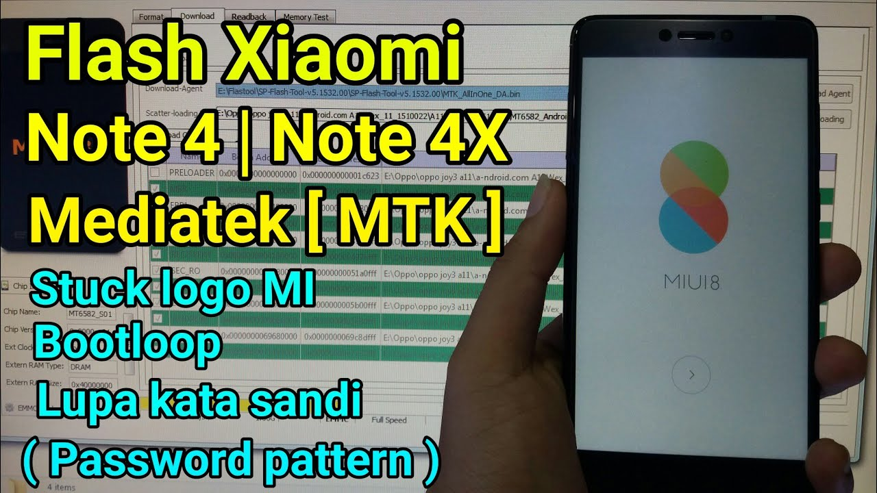 Flash Xiaomi Redmi Note 4 Note MTX Mediatek Ram 3 Ram 4 Global Rom