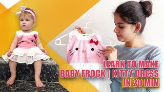 FROCK DESIGN FOR 2 YEAR BABYGIRL I Complete Pattern marking & Stitching Details