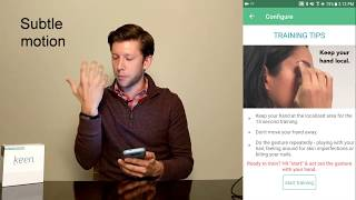 HabitAware: How to Train Keen for Accurate Gesture Detection