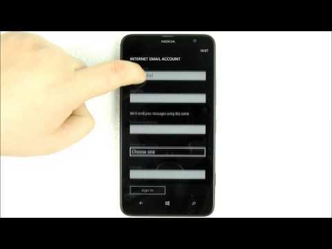 Nokia Lumia 1320 Configurare Cont Email