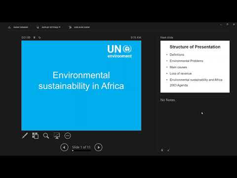 Environmental Sustainability in Africa