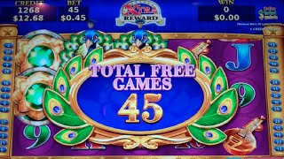 Adorned Peacock Slot Machine Bonus - 45 Free Games with Expanding Wilds, Nice Win (#3)