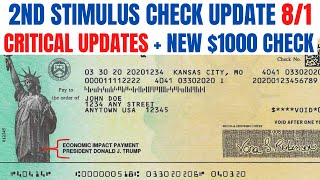 Second Stimulus Check| LATEST + NEW $1000 Check