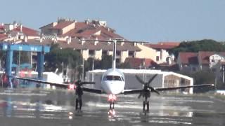 Embraer EMB-120 Brasilia de Flight Line aterrizando en LESO