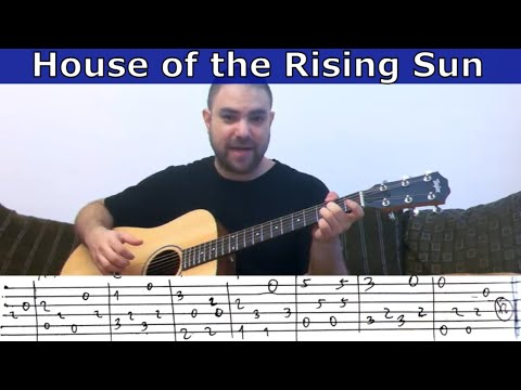 Fingerstyle Tutorial: House of the Rising Sun - w/ TAB (Guitar Lesson)