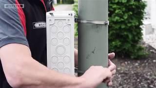 Mastbefestigung für Mi-Verteiler / Pole mounting of Mi enclosures