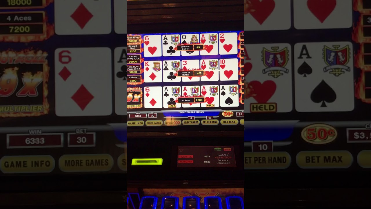 Hot Roll video poker at the Wynn - YouTube