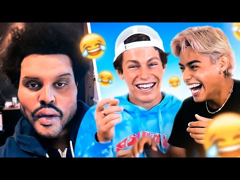 Try Not To Laugh with Ben Azelart & Andrew Davila