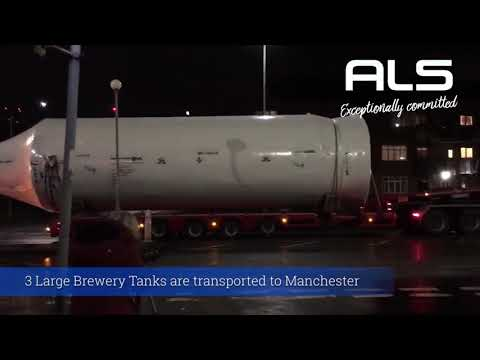 Heineken Brewery large tank transportation