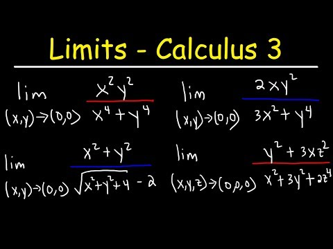 Limits Of Multivariable Functions - Calculus 3