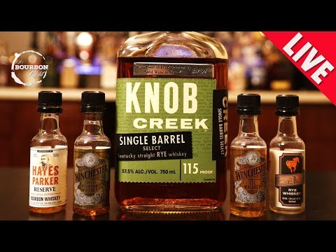 Knob Creek Single Barrel Select Rye + Sample Bottles = It's Bourbon Night - LIVE!