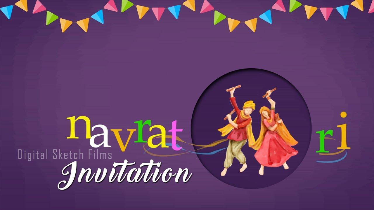 Navratri Dandiya Raas Animated Invitation Video By Digital