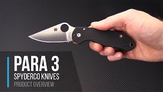 Spyderco Para 3 Compact EDC Compression Lock Folder Overview