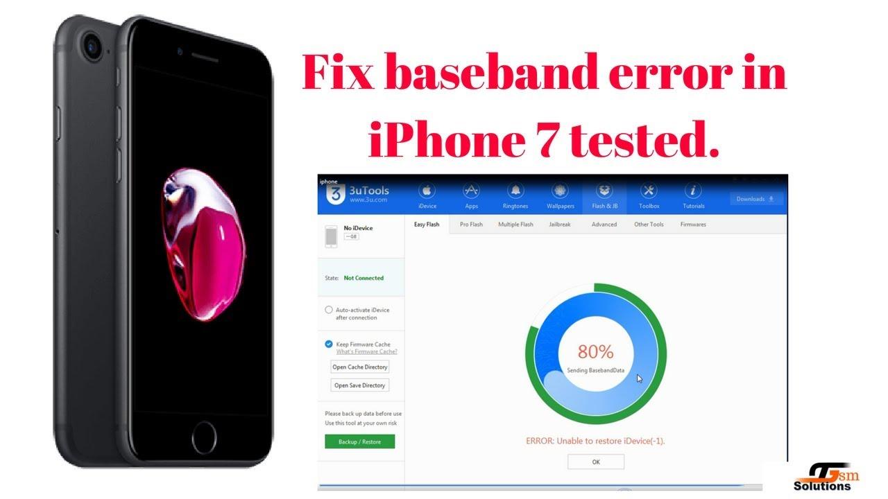 iPhone 7 Restore baseband error -2 solved