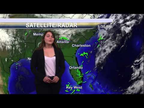 Student Meteorologist Courtney Byrd Weather Forecast