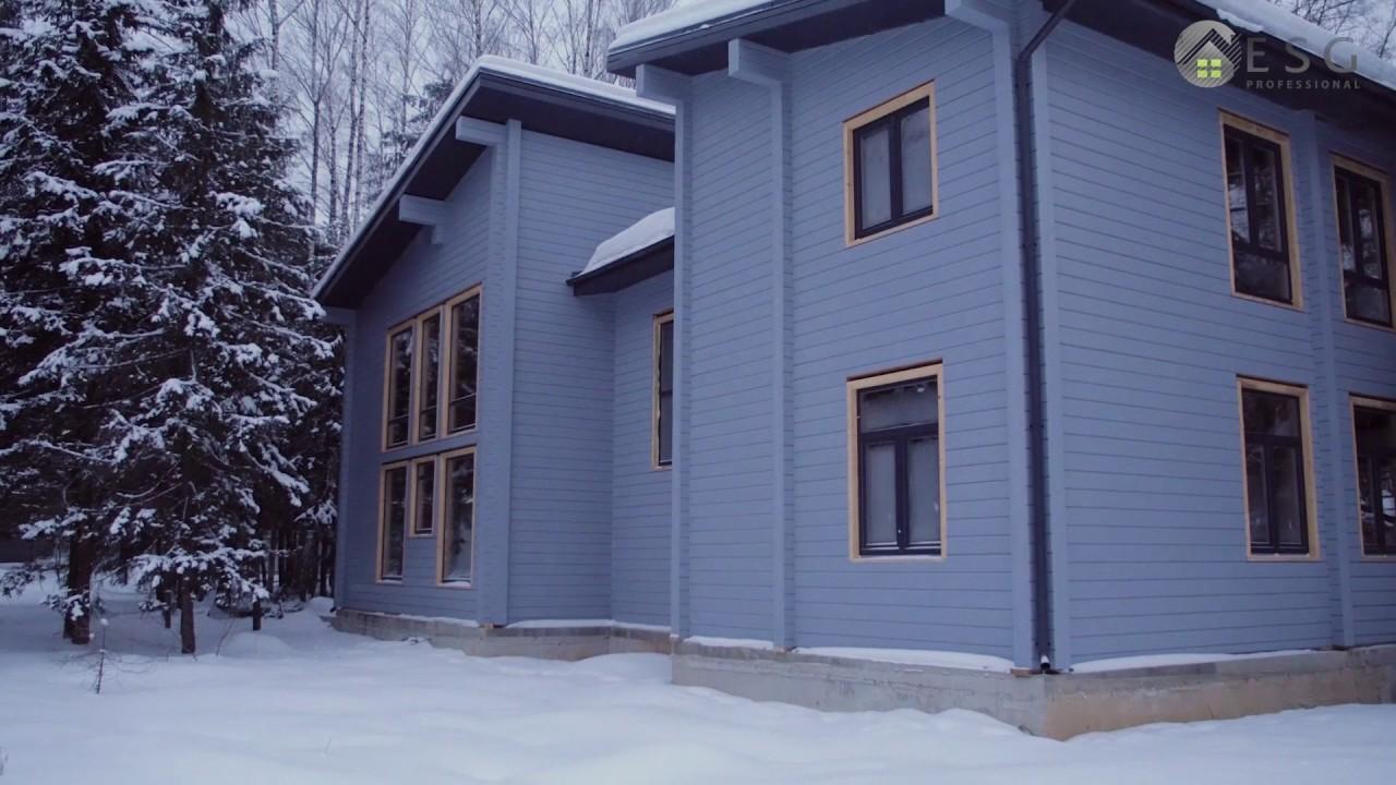 Покраска домов из клееного бруса