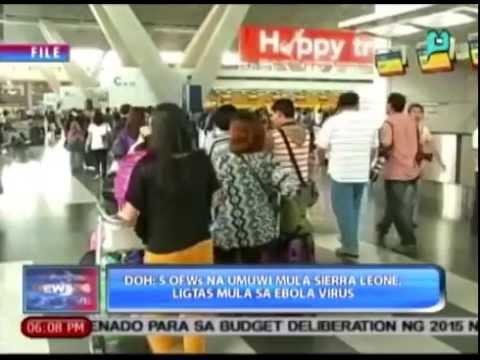 [News@6] DOH: 5 OFWs na umuwi mula Sierra Leone, ligtas mula sa Ebola Virus [08|09|14]
