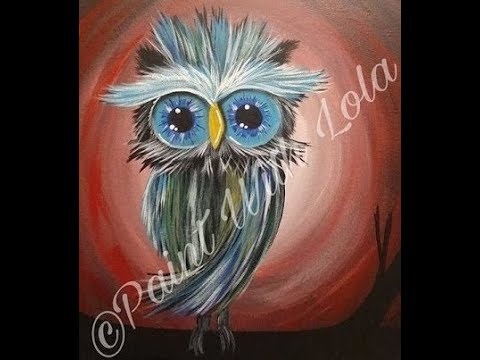 owl painting for beginners youtube