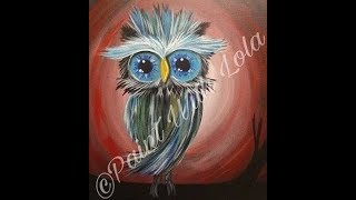 Owl painting for beginners