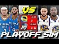 THE 2018 THUNDER VS. 2018 WARRIORS IN A 7 GAME SERIES SIMULATION ON NBA2K18!!