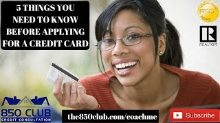 5 Things You Need To Know Before Applying For A Credit Card - No Credit, Bankruptcy, Budget, FICO