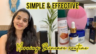 Non sponsored 4 step Morning Skincare routine || Indian Skincare