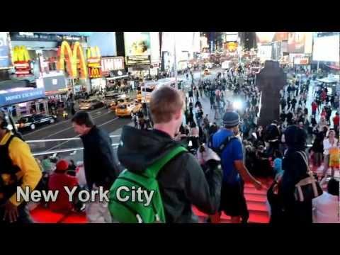 Times Square at night, New York City, USA