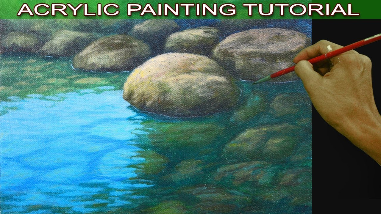 how to use acrylic paint with water