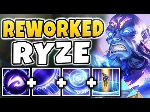 NEW RYZE REWORK IS ACTUALLY BEYOND BROKEN! (TRUE DAMAGE) REWORKED RYZE GAMEPLAY - League of Legends