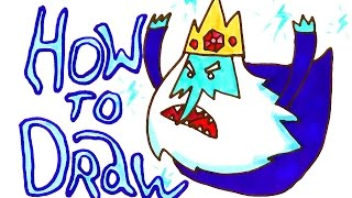 How to draw Ice King from the Adventure Time