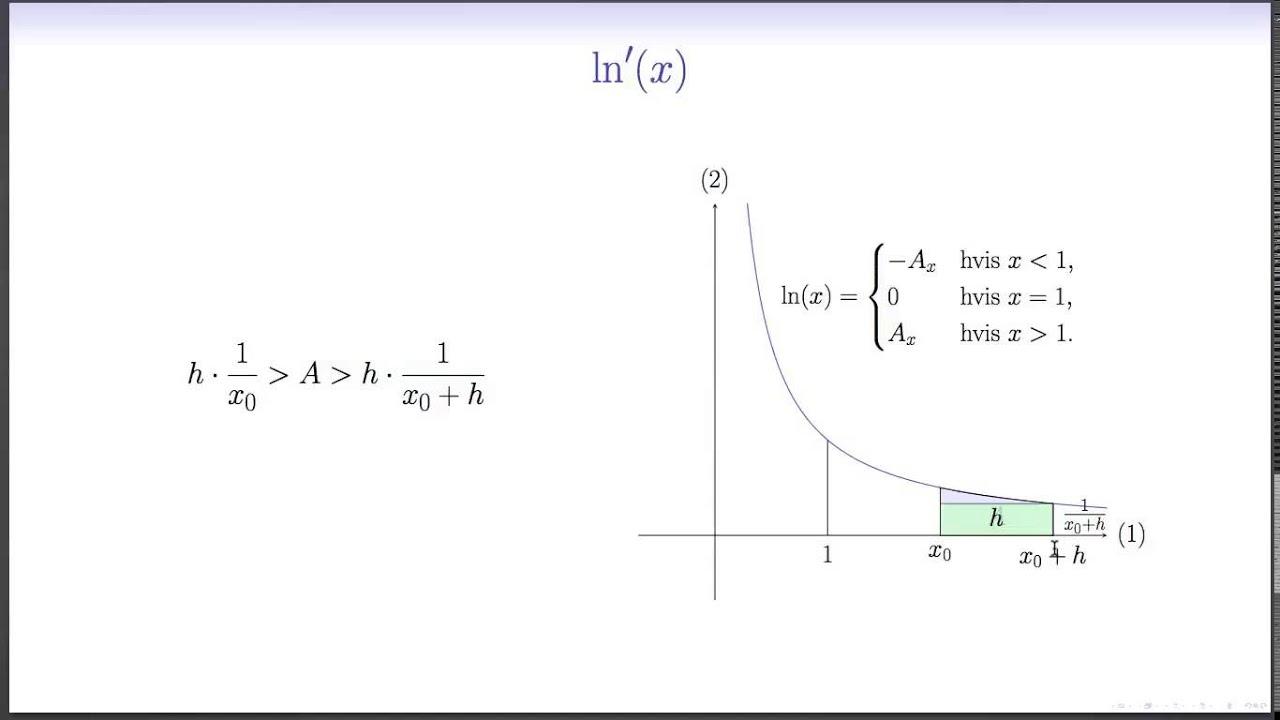 Differentialregning L6 - Differenskvotienten af den naturlige logaritme