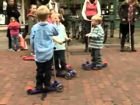 Детский трехколесный самокат