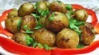 СУПЕР вкусная молодая картошечка с чесноком на сковороде!