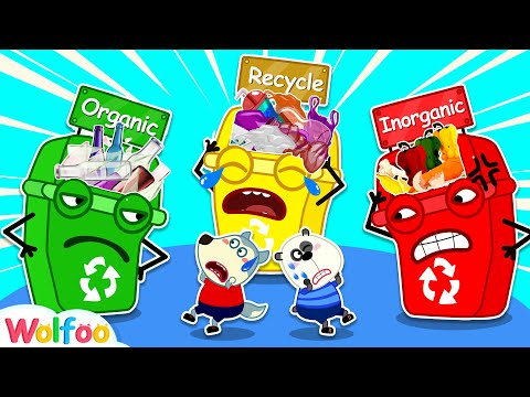 Clean up Trash and Learn Recycling for Kids with Talking Trash Can | Wolfoo Family Kids Cartoon