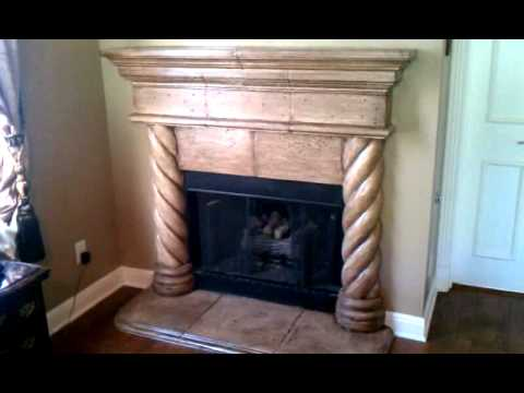 Cast Stone FirePlace Paint and Antique Glaze - YouTube