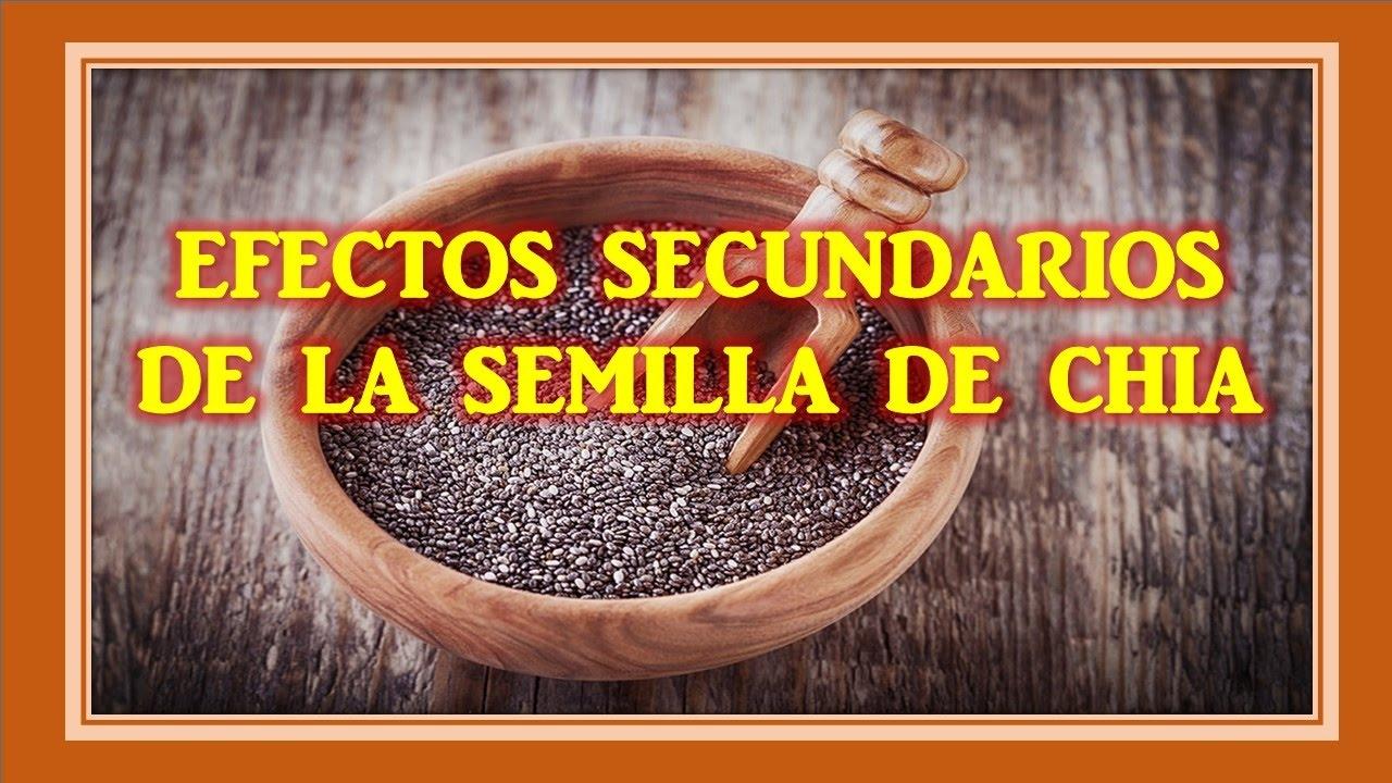 semillas chia efectos adversos