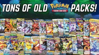 OPENING OLD PACKS OF POKEMON CARDS!!!