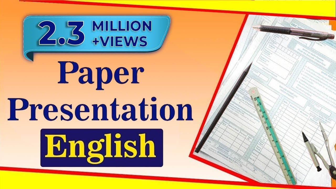 sample of paper presentation format