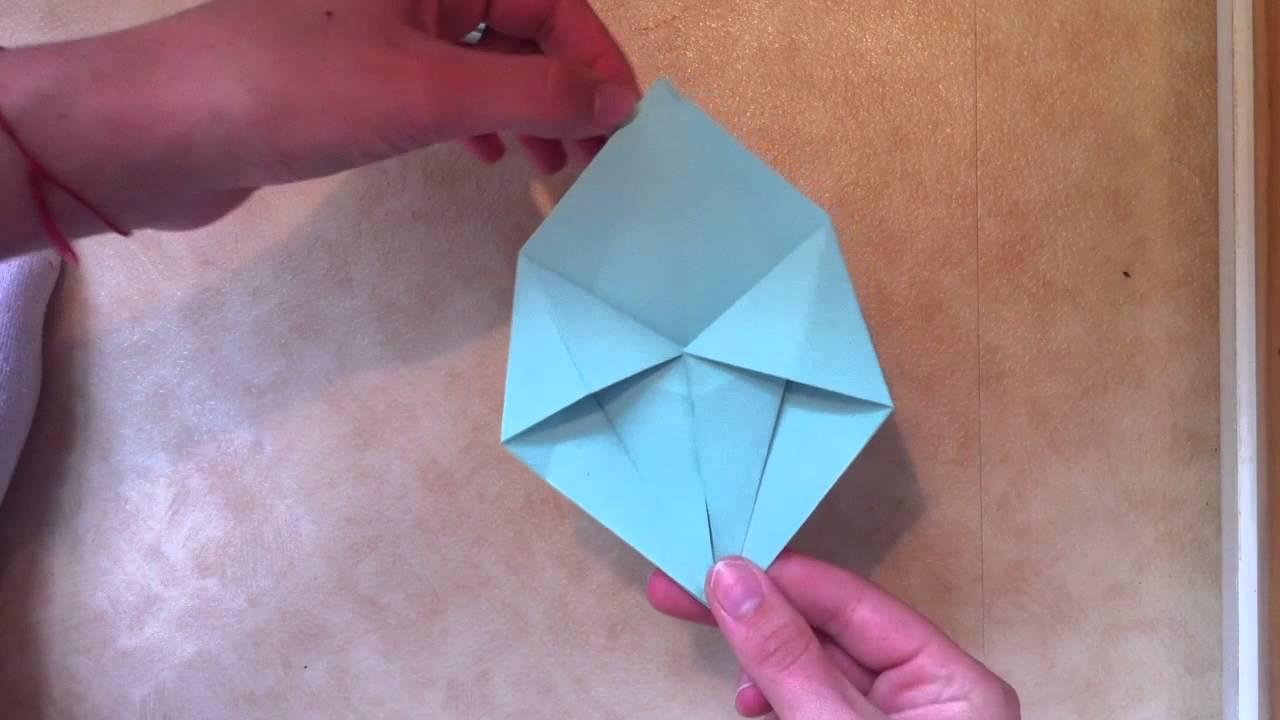 faire une boite en toile en origami boite en forme d 39 toile en papier youtube. Black Bedroom Furniture Sets. Home Design Ideas