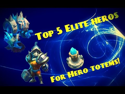 Castle Clash; Top 5 ELITE Heros For Hero Totems!