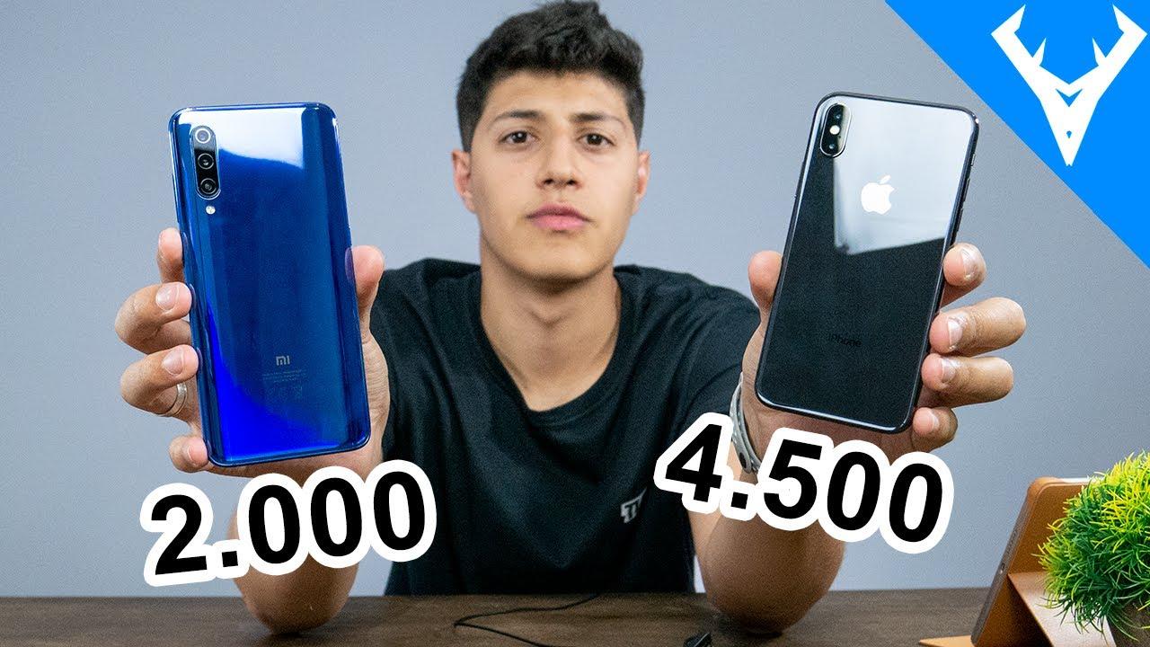 XIAOMI Mi9 vs IPHONE X Comparativo | Qual melhor?