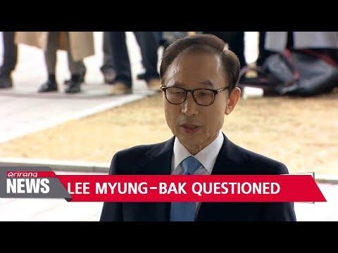 Former president Lee Myung-bak questioned over graft allegations