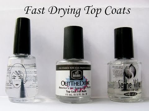 Best Fast Drying Top Coat Poshe Out The Door Seche Vite