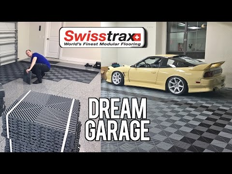 Building the Dream Garage: Swisstrax Flooring Install