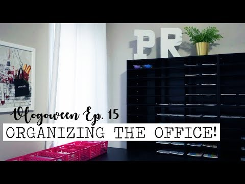 ORGANIZING THE PLANNING ROSES OFFICE!  Vlogoween Ep 15
