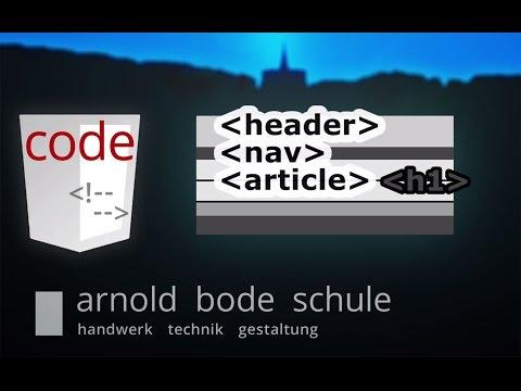 HTML Elemente Und Text Semantisch Gliedern (Struktur Und Design Einer Webseite 1/7)