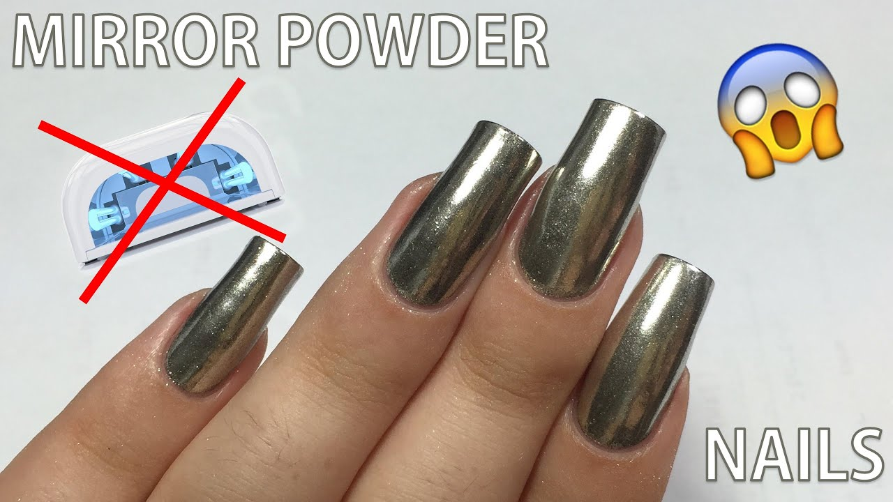 Does the MIRROR POWDER Work WITHOUT Gel Polish?! || NAIL ART 101 ...